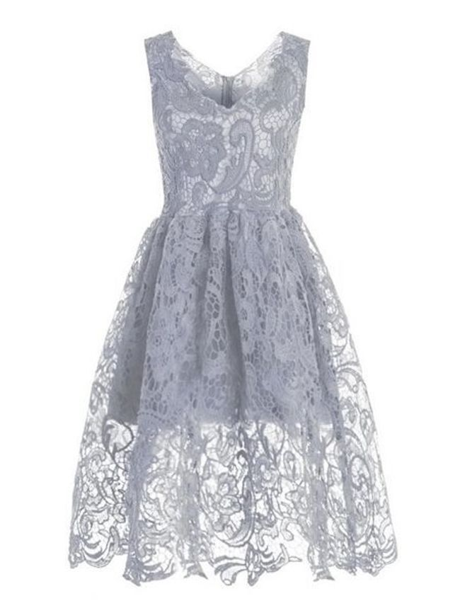 Stunning Sheer Lace Vintage Skater Dress - fashionMia.com