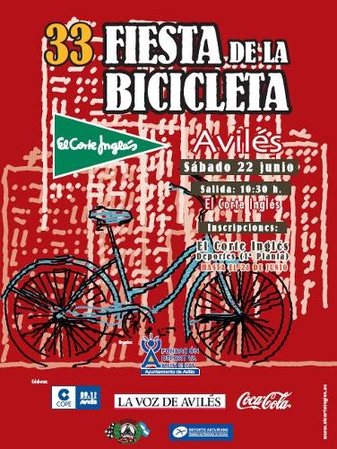 El sábado 22 de junio se celebra en Avilés la XXXIII Fiesta de la Bicicleta .