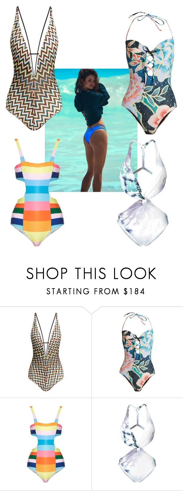 """Full body swimsuit"" by soulchicjourneyatelier ❤ liked on Polyvore featuring Missoni Mare, Mara Hoffman and Fleur of England"