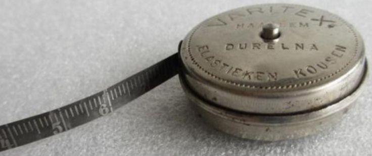 Varitex - rolmaat - Durelna Haarlem Elastieken Kousen - werd gebruikt bij het aanmeten van elastische steunkousen