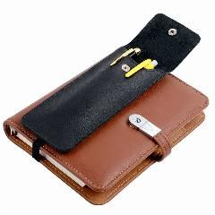 [ 18% OFF ] Genuine Leather Pencil Bags Black Color Business Pen Holder For Book Office Accessories Leather Pencil Bag Accept Customized