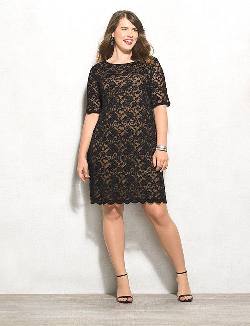 We'll admit that we're more than a bit biased towards lace, but looking at this dress makes it easy to see why. Dress it up even more with a sparkly statement piece and your go-to clutch! Imported.