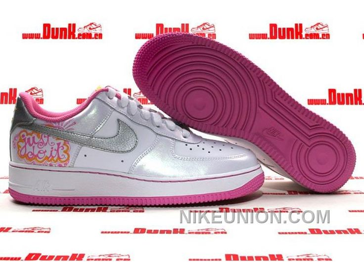 http://www.nikeunion.com/nike-air-force-1-low-white-silver-pink-cheap-to-buy.html NIKE AIR FORCE 1 LOW WHITE SILVER PINK CHEAP TO BUY Only $58.91 , Free Shipping!