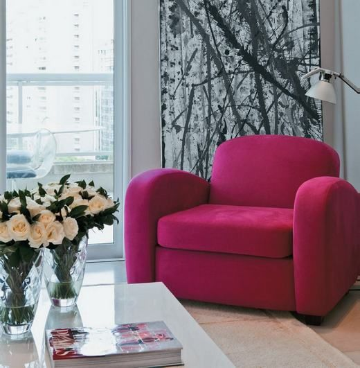We love the color of this armchair