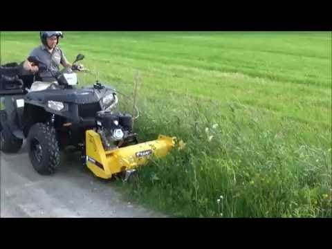Ultratec ATV trailer with Hydraulic tipping & Polaris Ranger 570 - YouTube