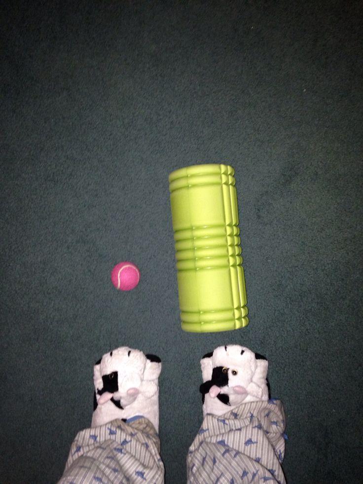 Swear by my foam roller and tennis ball.