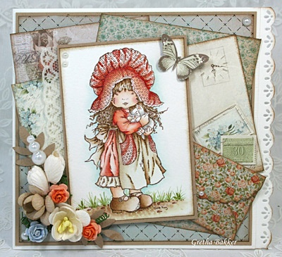 Sweet card using Sarah Kay image