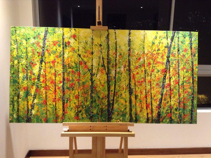 Forest Pintura en acrílico