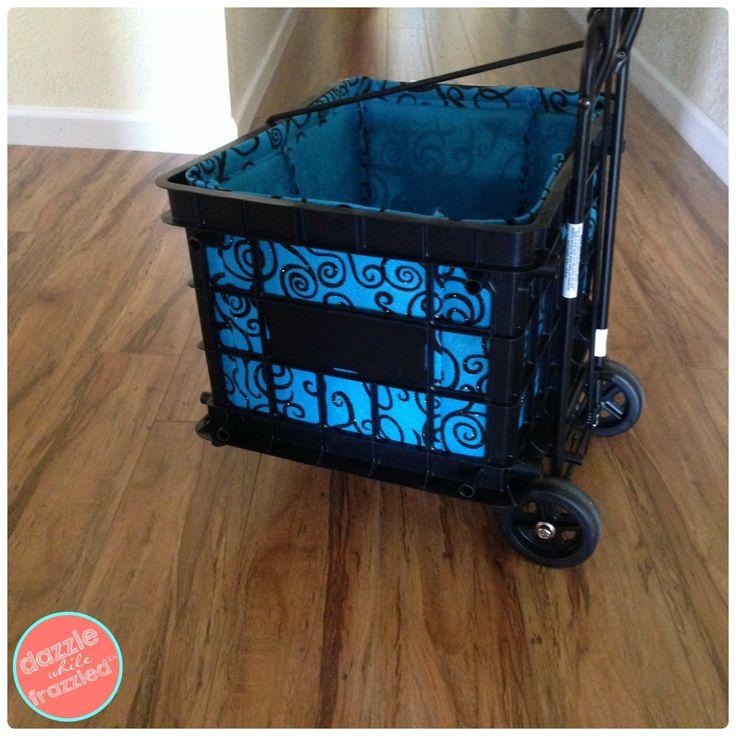 DIY Liner for Plastic Milk Crate | DazzleWhileFrazzled.com