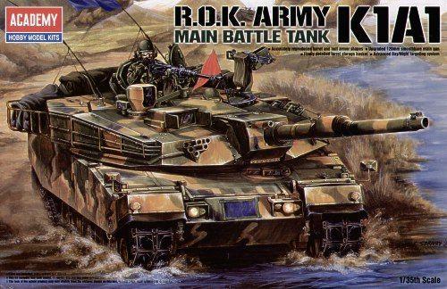 K1A1, Main Battle Tank, South Korea Army. Academy, 1/35, injection, No.13215. Price: 23,39 GBP.