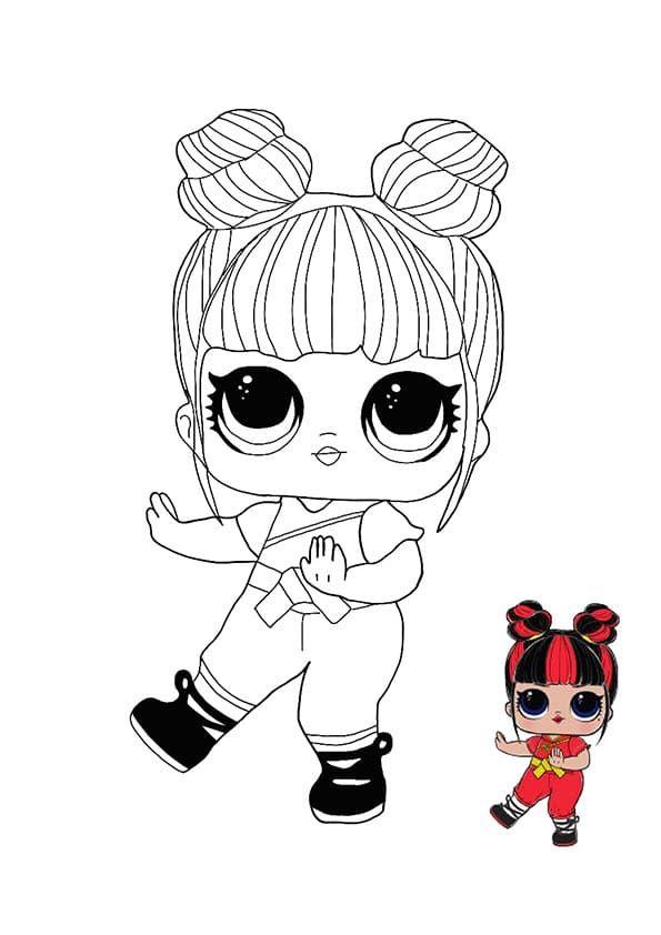 dibujos para colorear muñecas lol imprimir en formato a4