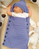 Hooded Sleep Sack from Cascade 60 More Quick Baby Knits