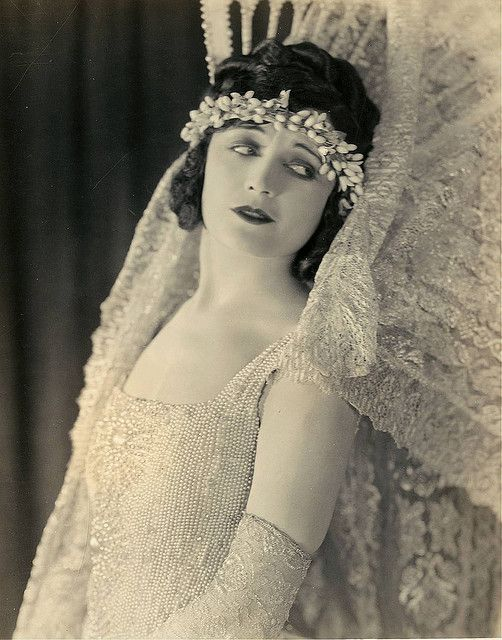 Pola Negri in wedding dress by Eugene Robert Richee, 1920s.