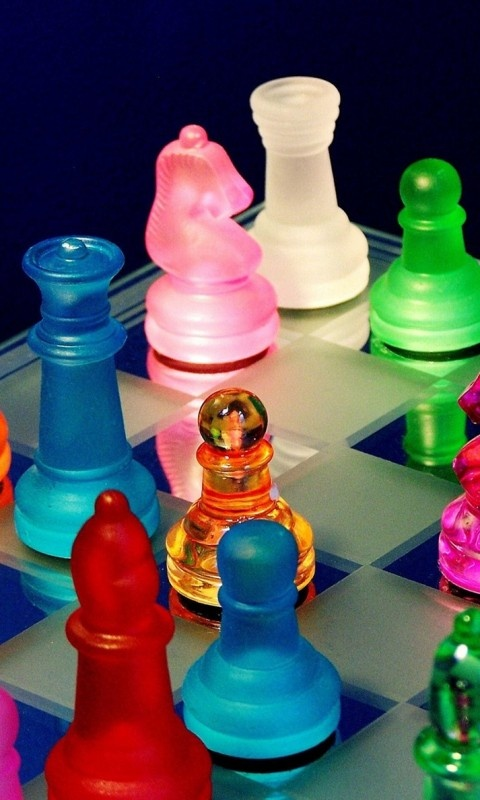 Chess   Note The Multicolored Pieces
