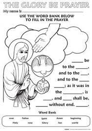 Image result for glory be prayer coloring page