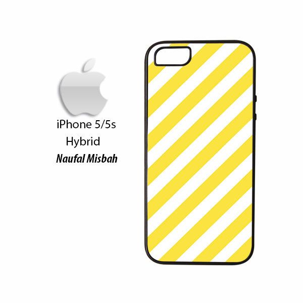 Yellow Stripes iPhone 5/5s HYBRID Case