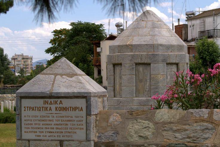 Ινδικά κοιμητήρια Ένα νεκροταφείο μοναδικό στον κόσμο, ξεχασμένο και άγνωστο από την πλειοψηφία των Θεσσαλονικέων αλλά με μεγάλο ιστορικό ενδιαφέρον.
