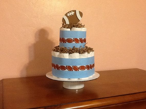 Football Diaper cake Baby Boy Baby shower Gift/Decoration