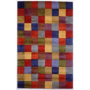 Rugs America Color Blocks Dark Rug