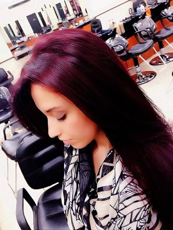 hair color wish this color would stick in my hair I love the contrast of the dark hair and vibrant red