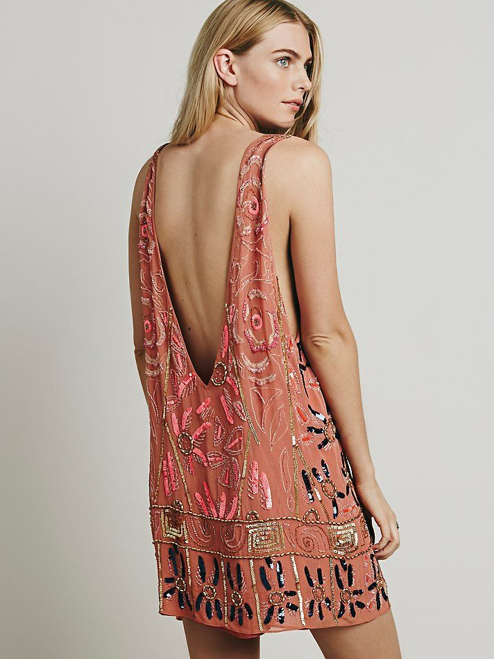 Free People Love and Embellished Shift Dress at Free People Clothing Boutique