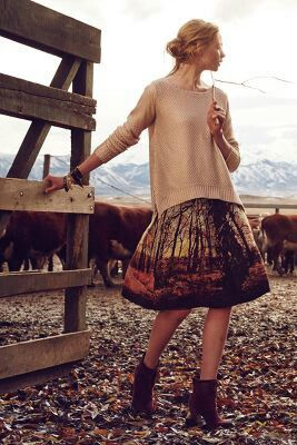 #style #skirt #autumn #fashion #anthropology