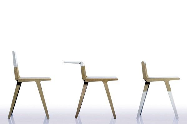 Bright, wooden chair by Marco Sousa Santos.
