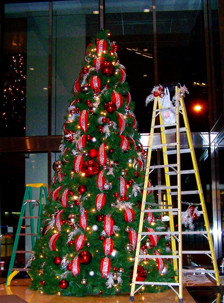 13 best images about corporate christmas decor on for Christmas tree mural