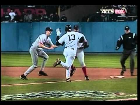 A-Rod slaps Bronson Arroyo's glove  - Game 6 of the 2004 ALCS - Always a cheater.....