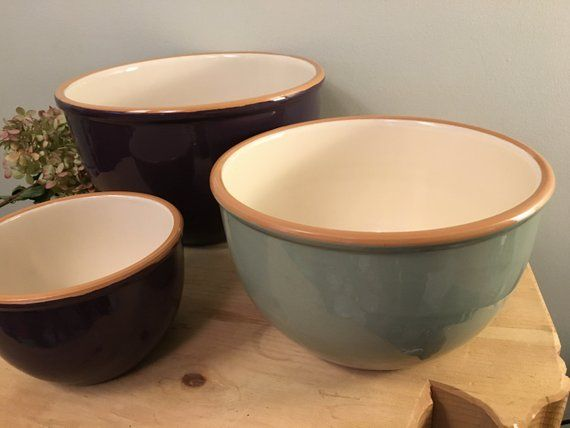 Cer Alfa Mixing Bowl Set In Eggplant And Slate From Crate And Mixing Bowls Set Bowl Bowl Set