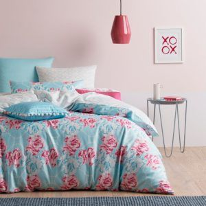 Luxurious and ultra feminine bedroom with blue and floral linen, found it at a store Wide Sale - Miss Bettina boutique bedding - 30% off - Home Culture
