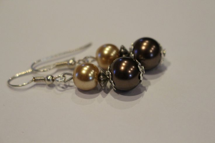 pearl earrings by 1ofAKindHomeMade on Etsy
