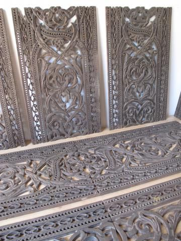 Awesome decorative early Victorian cast-iron floor grilles, removed from a Cumbrian church.