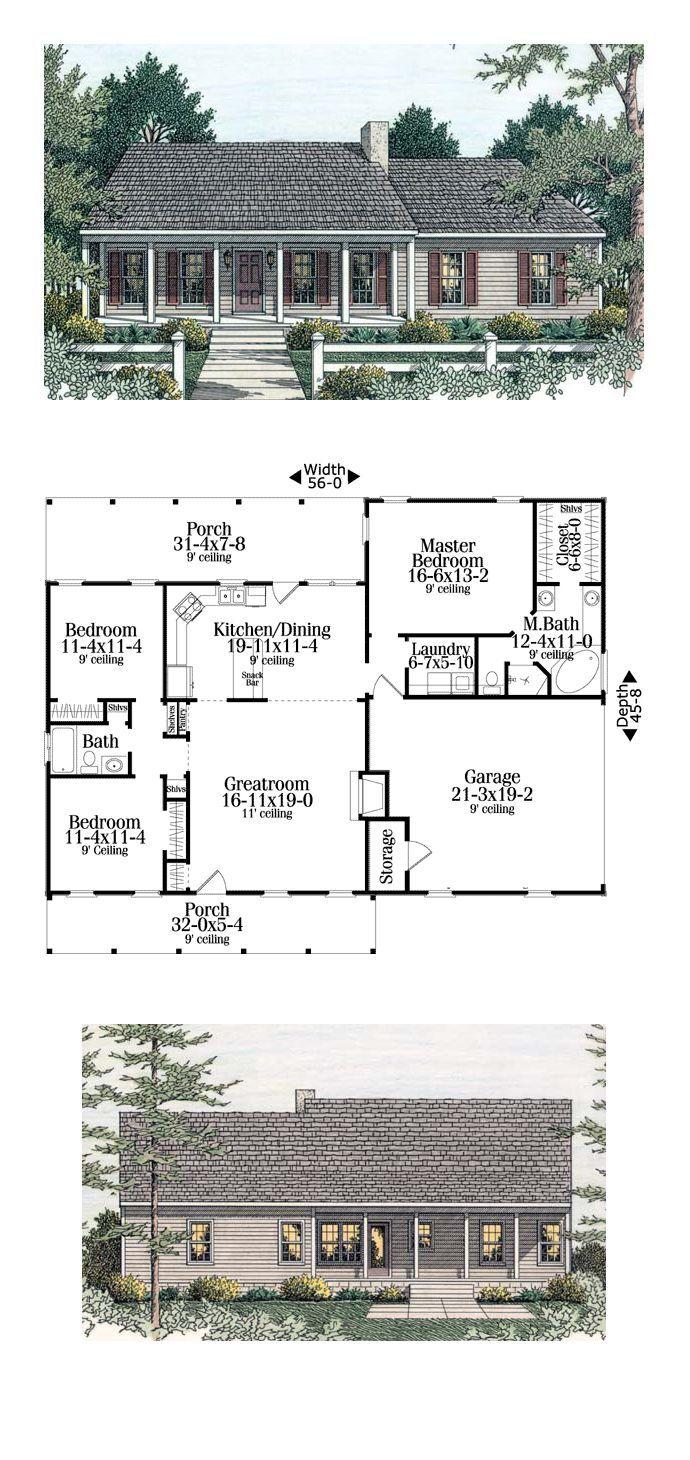 Best Selling House Plan 40026 | Total Living Area: 1492 Sq. Ft.,