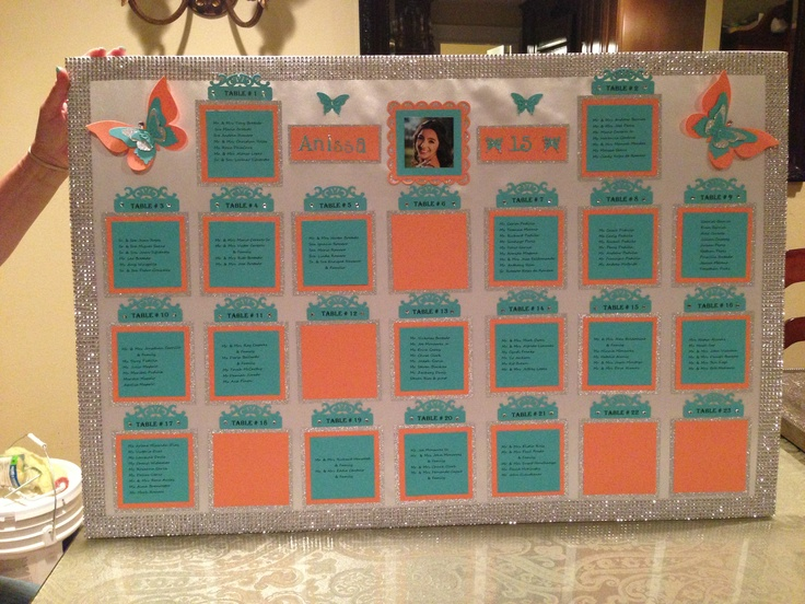 17 best images about seating chart on pinterest for Wedding table organizer