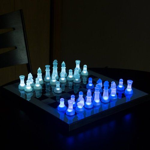 Anytime you need to play chess in the dark......LED Chess Set by LumiSource