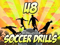 Check out these three great drills for soccer players aged 8 and under. They're designed to teach kids all of the basics that they'll need to know!