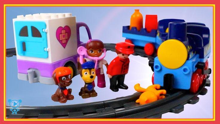 Eisenbahn für Kinder Video - Playmobil Eisenbahn crash mit Katze - Spiel...