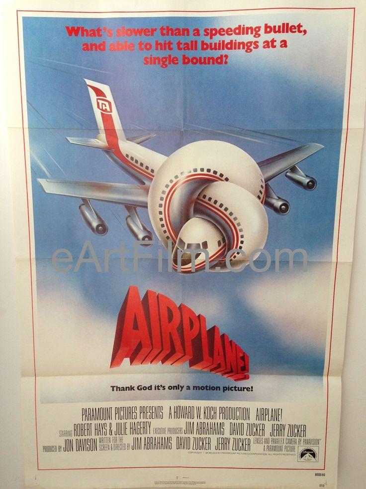 Happy Birthday Robert Hays!  Airplane! 1980 27x41 Robert Hays Original U.S One Sheet