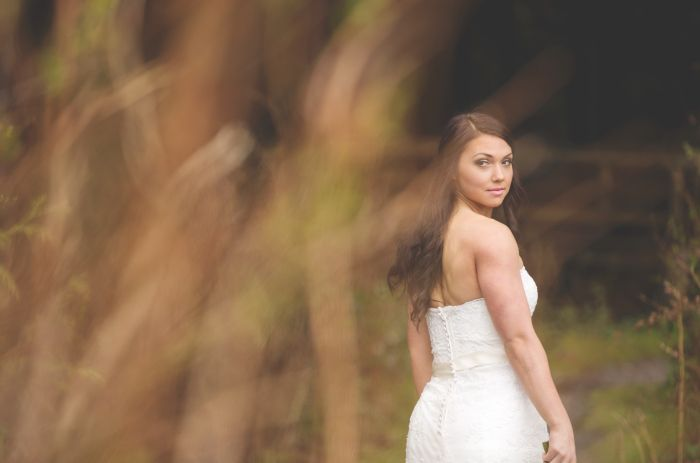 Bridal Portrait - Whonnock Lake Hall.