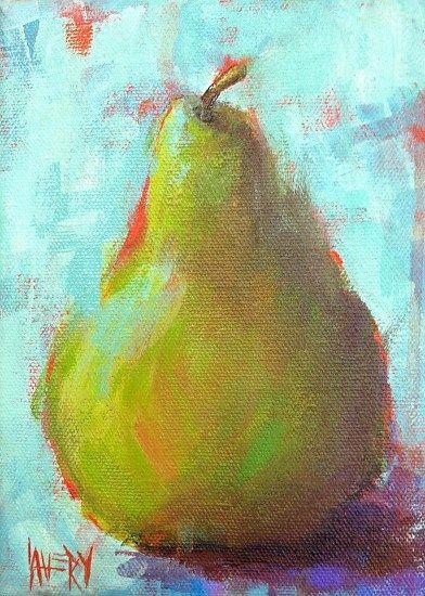 Ocracoke Pear by LeAnne Avery, acrylic ~ 7 x 5 www.leanneavery.com