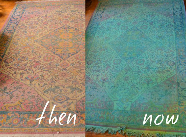 Red Brick Magazine: Overdyed Rug D.I.Y | Painted rug, Diy ...