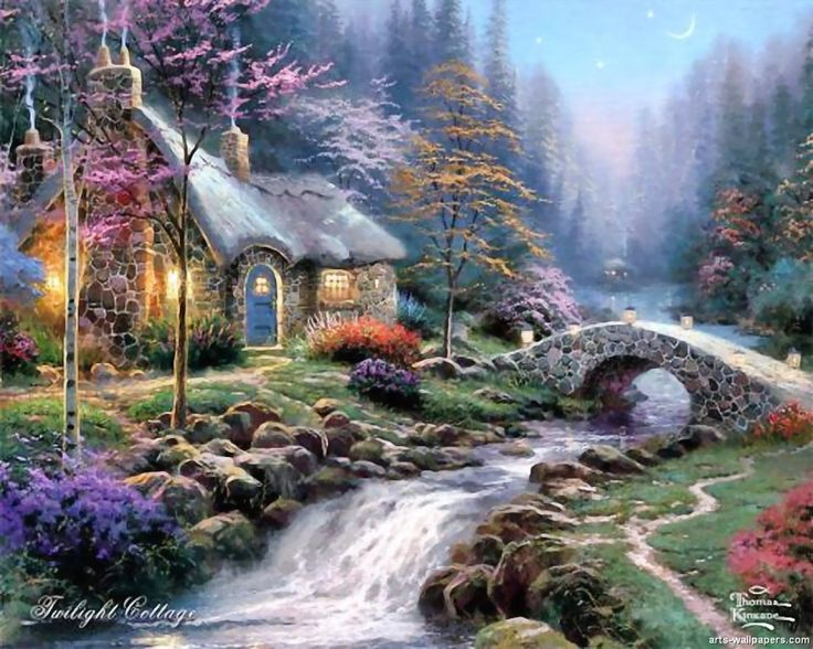Make a wish cottage Thomas kinkade Art prints canvas 12X16 free shipping! Description from pinterest.com. I searched for this on bing.com/images