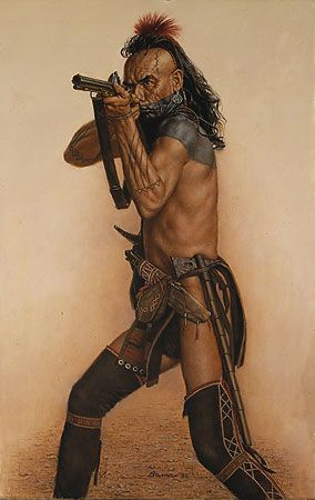 """Wes Studi as Magua from """"The Last of the Mohicans"""" @James Bama"""