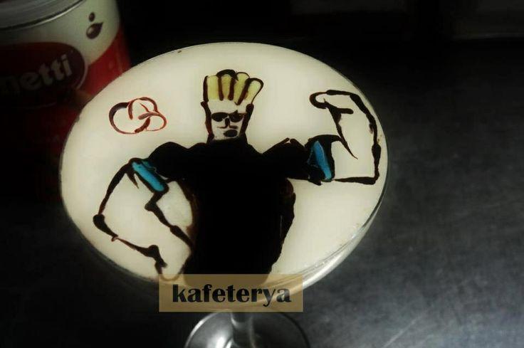 Latte art jhonny bravo