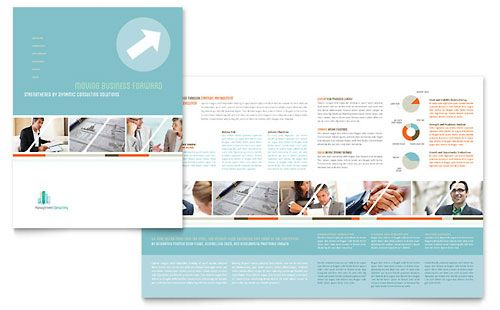 Management Consulting - Brochure Template Design Sample