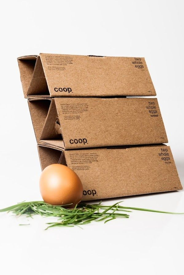 Elegant, Minimalist Egg Packaging Made With A Single Piece Of Cardboard - DesignTAXI.com