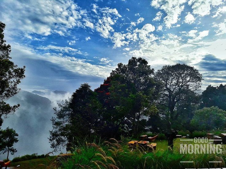 Pemandangan dari atas tebing area Ciburial menjadi daya tarik utama Cafe D'Pakar dalam menikmati sajian kuliner dengan panorama alam yang begitu unik nan indah. [📷 : anugrah_senja3]