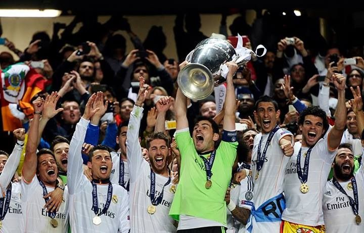 Finally after 12 years of waiting, after so many players, coaches, 2 presidents and a lot of money spent we have won the title to break all records and to prove we are the football club in the world! #hallamadrid #realforever The Champion League 13/14 is ours!