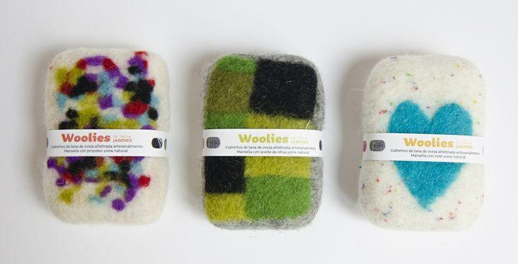 Woolies, felted soaps by Txula Artesanía